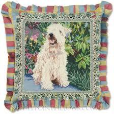 handmade soft coated wheaten terrier pillow