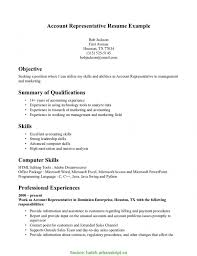 Newest Customer Account Representative Resume Customer Service