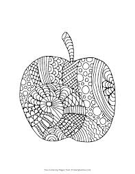 Coloring Pages Apple White A Is For Apple Coloring Page Apples