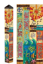 garden pole. Great New Garden Art Pole With Beach Theme! Carolina Creations | Peace PP256 T
