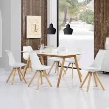 Bambus Stühle Esszimmer Esstisch Holz Frisch Tisch Wei Mit
