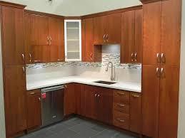 cherry frameless kitchen cabinets