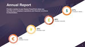 Powerpoint Financial Free Annual Report Powerpoint Slide Slidestore