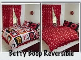 betty boop reversible bedding duvet quilt cover set polka red lips kisses design