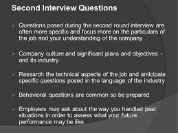 Questions For Second Interview Fred Burke Executive Director The Career Center Hofstra University