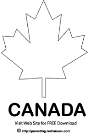 Small Picture Patriotic Canada Maple Leaf Colouring Sheet