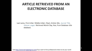 Apa Format For Online Article 2018 World Of Reference
