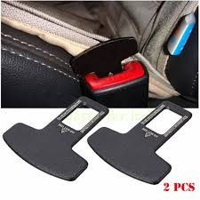 2pcs universal carbon fiber car safety seat belt buckle alarm stopper clip clamp 1 of 10free see more