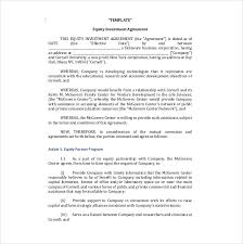 Investment Agreement Templates Company Investor Agreement 15 Investment Agreement Templates Pdf Doc