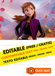 +15 frozen 2 birthday invitations free to edit, customize, print, send via whatsapp, facebook or email with excellent image quality. 15 Free Frozen 2 Birthday Invitations For Edit Customize Print Or Send Via Whatsapp Fiestas Con Ideas