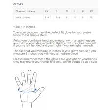 G Fore Size Chart Sealskinz Sporting Gloves