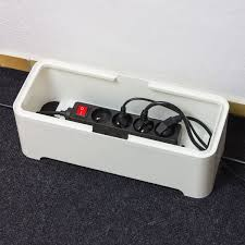 office cable tidy. The Ebox - Long Cable Tidy Box Extension Wire Charger Storage Electronic Organiser Arranger Dock: Office T