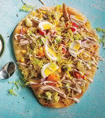 en cobb salad naan flatbread