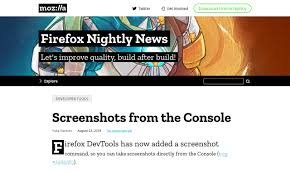 How To Get A Screenshot Firefoxs Screenshot Command Erics Archived Thoughts