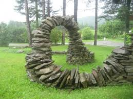 Small Picture Amazing helical stone walls and arches that Thea Alvin has built
