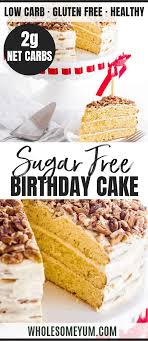 Perfect low carb cake for a small celebration! Vanilla Keto Birthday Cake Recipe Wholesome Yum