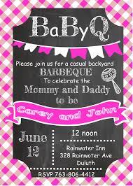 Baby Shower Invitations sar1985pink BaBy Q Chalkboard pink
