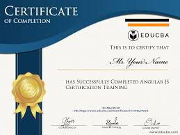 What Is Course Completion Certificate Angular Js Certification Training 6 Courses Bundle Online