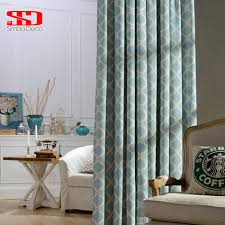 Modern Curtain Panels For Living Room Modern Curtain Blue Bedroom Promotion Shop For Promotional Modern