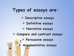 kinds of essay and examples co types of essay