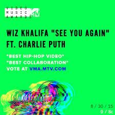Mtv Vma Nominations Announced Go Vote Now Wiz Khalifa