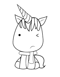 Disegno Di Unicorno Kawaii Da Colorare Disegni Da Colorare E