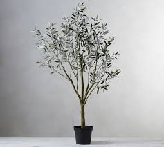 faux potted olive tree
