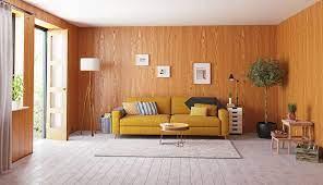 charm of real wood veneer wall paneling