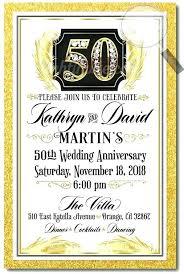 50th Anniversary Party Invitations 50th Wedding Anniversary Party Invitation Zoli Koze