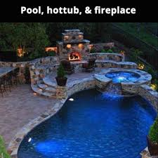 inground pools with waterfalls and hot tubs. Pool Hot Tub And Fireplace Pictures Photos Images For Inground Pools With Waterfalls Tubs