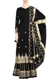 Black Sharara Designs Black Sharara Set With Gota Patti Work Sukriti Aakriti
