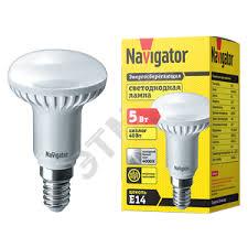 <b>Лампа светодиодная LED</b> зеркальная <b>5вт E14</b> R50 белая (94136 ...