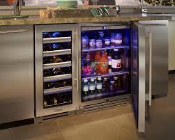 Under Counter Beverage Centers Kitchen Modern Open Styled Single Door Beverage Center Fridge