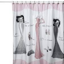 imposing ideas bed bath and beyond bathroom curtains well suited black pink paris shower curtain accessories from