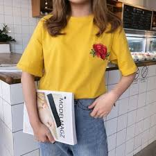 YOSH <b>Embroidered Short</b>-<b>Sleeve T</b>-<b>Shirt</b> | YesStyle
