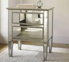 park mirrored bedside cabinets contemporary nighstand stunning diamond look effect corner placements