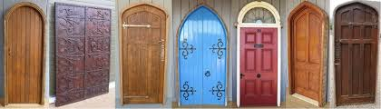original reclaimed antique victorian or vintage front doors such as panelled doors gothic arched doors