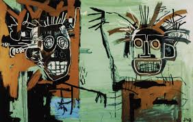 two heads on gold 1982 jean michel basquiat