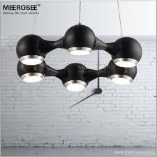 modern led chandelier ring light fitting 6 led lights circle suspension hanging light 18 watt prompt