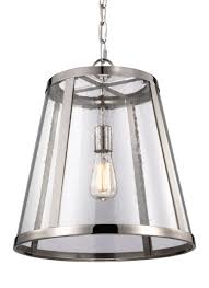 1 light pendant polished nickel