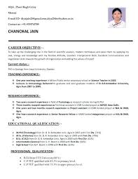 Current Resume Formats Gorgeous General Resume Layout Curriculum Vitae Good Resume Layout Example