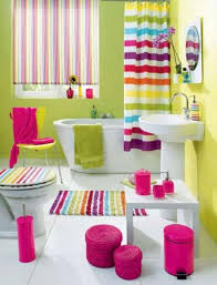 carnival-like rainbow bathroom. if im still a little girl, this is how i  want my bathroom to look like. nothing like a cheerful, girly bathroom in  bold ...