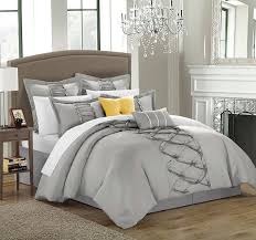 silver comforter set queen the bedroom various styles bedding sets chic duvet twin beige sparkle purple