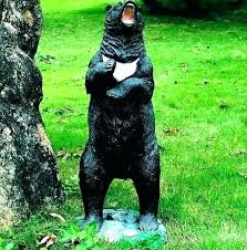 outdoor statues for gardens large outdoor bear statues garden statue black landscape animal wooden with teddy outdoor statues