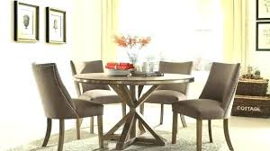 round light oak dining table inches stainless steel trim set of inch ta