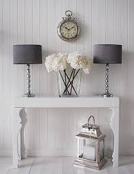 hall console table white. Narrow Console Tables For Hall Manhattan White Gloss Consoles Table As Elegant Hallway Furniture Piece The Entrance To Your Home