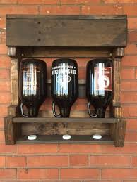 17 best images about beer stuff craft beer taps custom hand made growler drying display rack get those old growlers off the top
