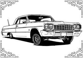 Small Picture 64 Chevy Impala Lowrider Coloring Pages Cars I Love Pinterest