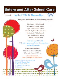 childcare day camps ywca st thomas elgin before after school childcare general b a flyer 2014