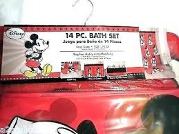 mickey and minnie mouse bathroom set rug affordable
